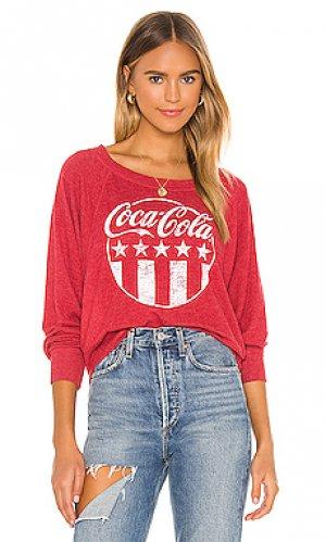 Свитшот coca-cola Chaser. Цвет: красный