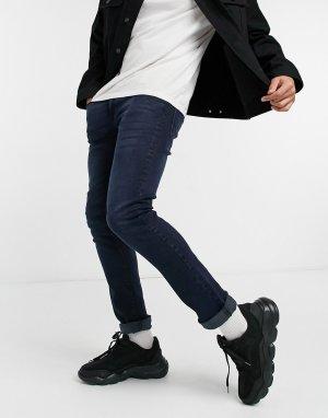 Темно-синие зауженные джинсы Voi Lex-Голубой Jeans