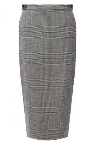 Шерстяная юбка Altuzarra. Цвет: чёрно-белый