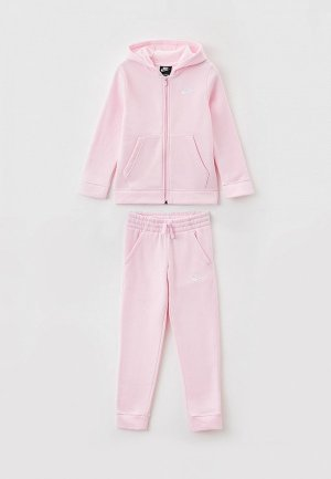 Костюм спортивный Nike B NSW CORE BF TRK SUIT. Цвет: розовый