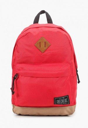 Рюкзак Skechers. Цвет: красный