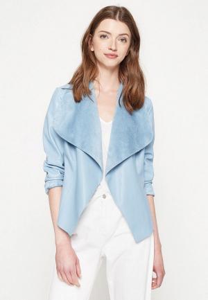 Куртка кожаная Koton. Цвет: голубой