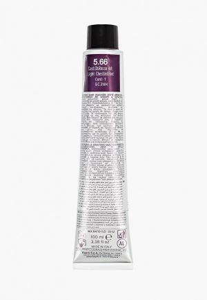 Краска для волос KayPro 5.66 CAVIAR SUPREME СВЕТЛЫЙ ИНТЕНСИВНЫЙ КРАСНЫЙ КАШТАН. Цвет: прозрачный