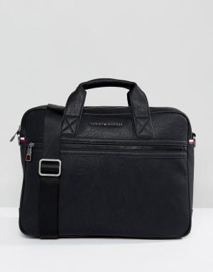 Черная сумка для ноутбука -Черный Tommy Hilfiger