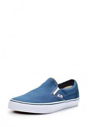 Слипоны Vans CLASSIC SLIP-ON. Цвет: синий