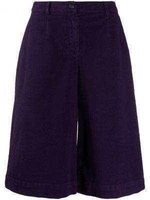 Wide-leg culotte trousers Stefano Mortari. Цвет: фиолетовый