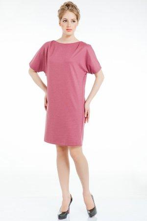 Платье LeVall. Цвет: брусничный, темно-серый