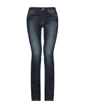 Джинсовые брюки BSB. Цвет: синий