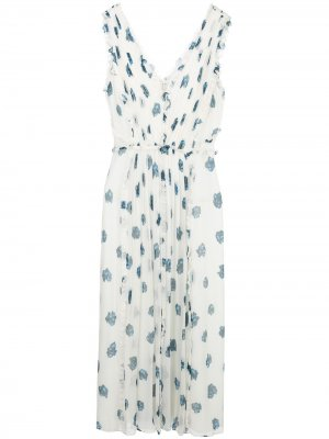Платье миди с цветочным принтом Jason Wu. Цвет: белый