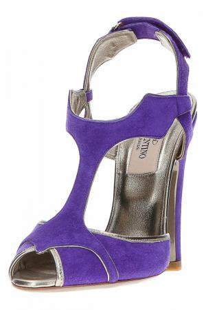 Босоножки Valentino. Цвет: фиолетовый
