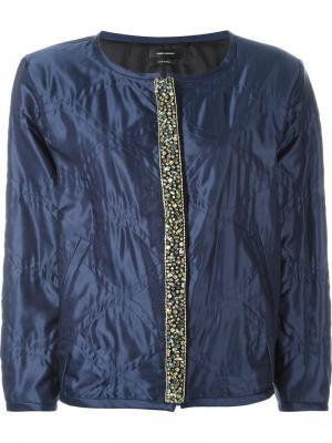 Декорированная куртка-бомбер Isabel Marant. Цвет: синий