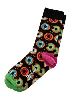 Носки HAPPY SOCKS. Цвет: горошек, мультицвет, черный