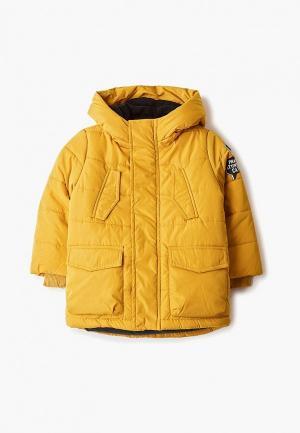 Куртка утепленная Button Blue. Цвет: желтый