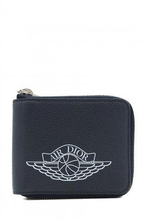Бумажник Dior x Jordan Wings Zip Wallet Nike. Цвет: синий