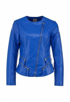 Куртка кожаная Silvian Heach SI386EWBHW35. Цвет: синий