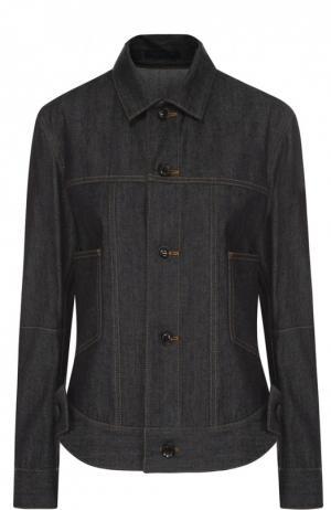 Джинсовая куртка прямого кроя с контрастной прострочкой Yohji Yamamoto. Цвет: синий