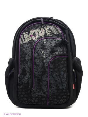 Рюкзак 4you. Цвет: черный, серый, фиолетовый