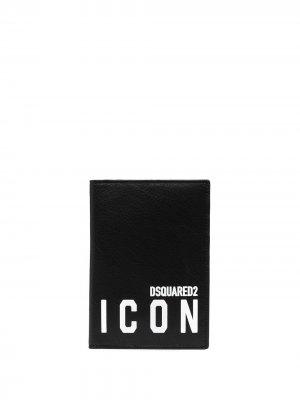Картхолдер с принтом Icon Dsquared2. Цвет: черный