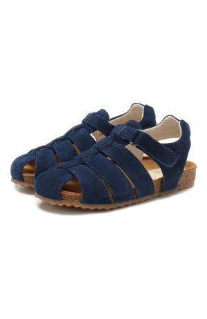 Замшевые сандалии Il Gufo. Цвет: синий