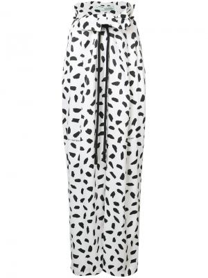 Широкие брюки с принтом Off-White. Цвет: белый
