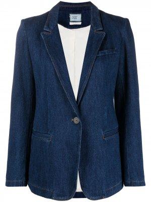Джинсовая куртка на пуговицах Forte. Цвет: синий