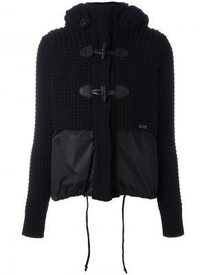 Куртка с меховым капюшоном Bark. Цвет: черный