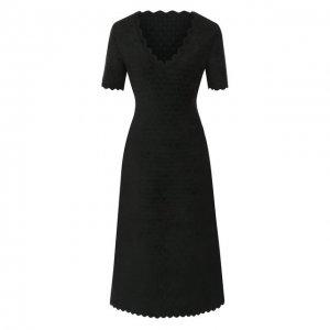 Платье из вискозы Alaia. Цвет: зелёный