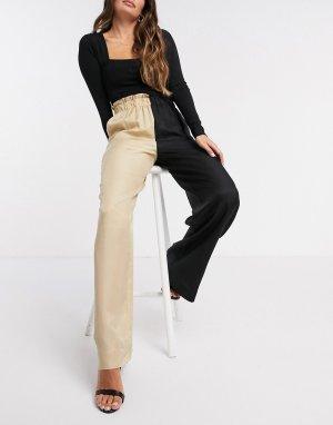 Контрастные широкие брюки -Мульти Gestuz