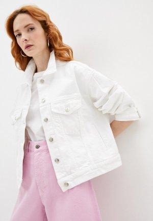 Куртка джинсовая 3x1. Цвет: белый