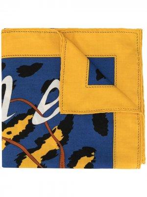 Шаль с логотипом Hermès. Цвет: разноцветный