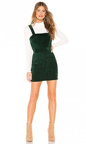 Платье jumper Amanda Uprichard. Цвет: темно-зеленый
