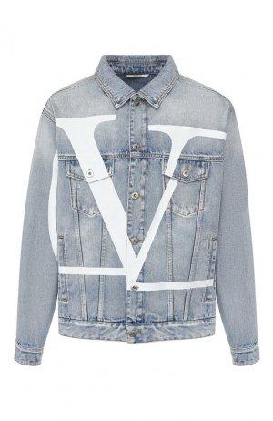 Джинсовая куртка Valentino. Цвет: синий