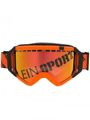 Солнцезащитные очки с логотипом Plein Sport. Цвет: оранжевый