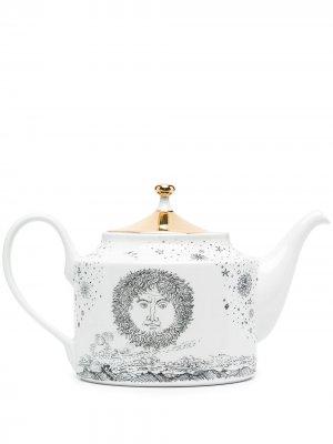 Заварочный чайник Solitario с принтом Fornasetti. Цвет: белый