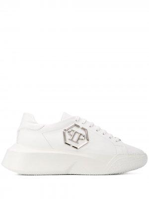Кроссовки с логотипом Philipp Plein. Цвет: белый