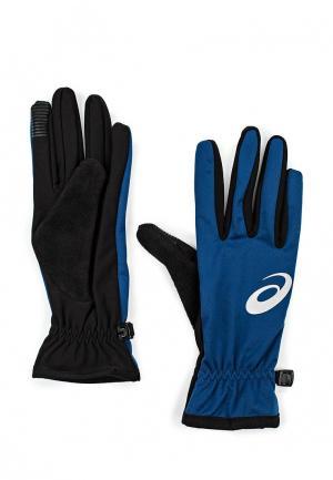 Перчатки ASICS WINTER PERFORMANCE GLOVES. Цвет: синий