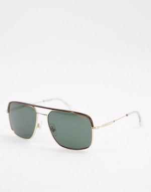 Солнцезащитные очки с квадратными линзами 152/S-Золотистый Carrera