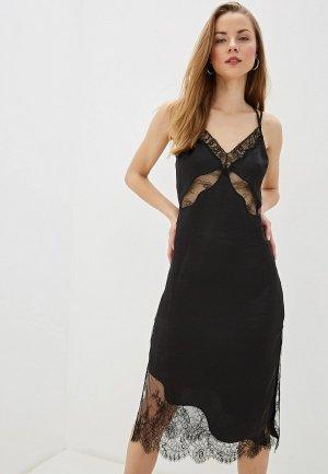 Платье River Island. Цвет: черный