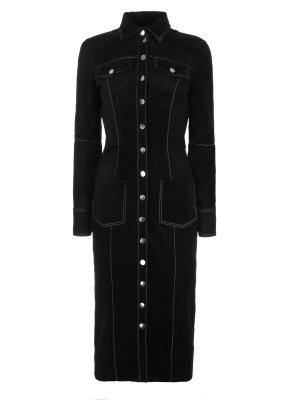 Платье кожаное Alina German. Цвет: черный