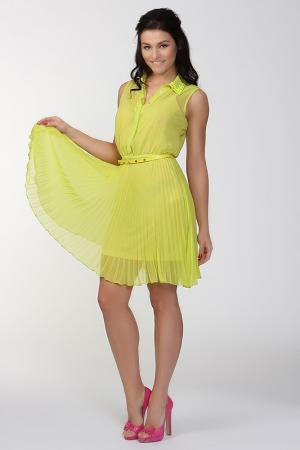 Платье AC Alba Conde. Цвет: желтый