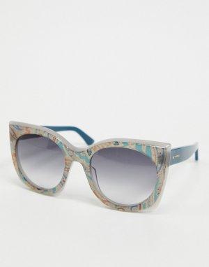 Солнцезащитные очки в квадратной оправе Etro-Мульти ETRO