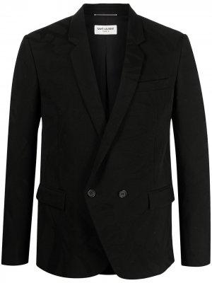 Двубортный пиджак Saint Laurent. Цвет: черный