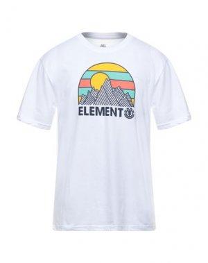 Футболка ELEMENT. Цвет: белый