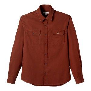 Рубашка La Redoute. Цвет: оранжевый