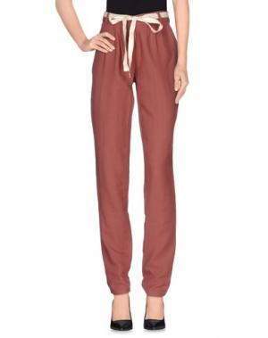 Повседневные брюки AMERICAN VINTAGE. Цвет: кирпично-красный