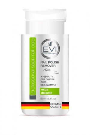 Жидкость д/снятия лака 150 мл EVI professional. Цвет: белый