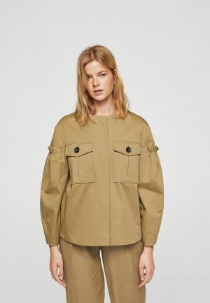 Куртка Mango - TULON. Цвет: хаки