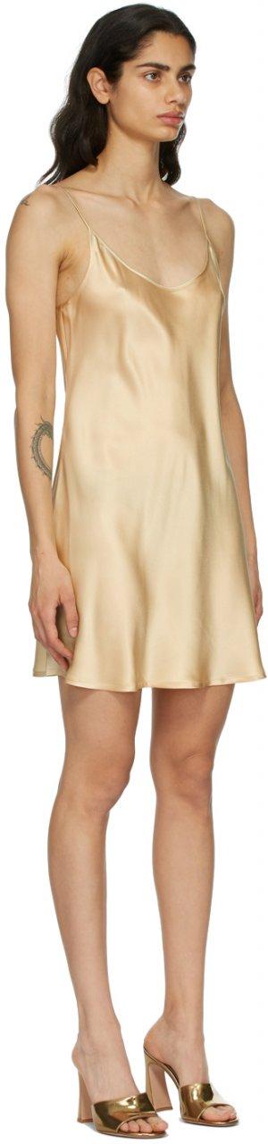 Beige Slip Dress La Perla. Цвет: s083 beige