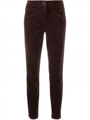 Бархатные брюки скинни Luisa Cerano. Цвет: коричневый