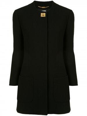 Пальто pre-owned с поворотным замком Céline. Цвет: черный